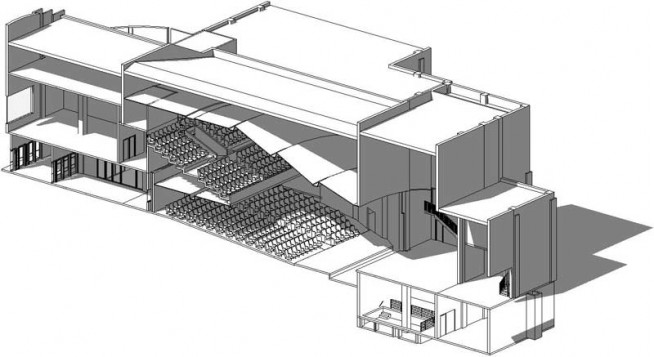 Sketch of Willson Auditorium