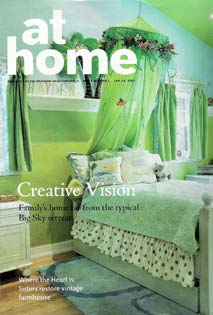 Cover of At Home, Bozeman Daily Chronicle, Jan 2007