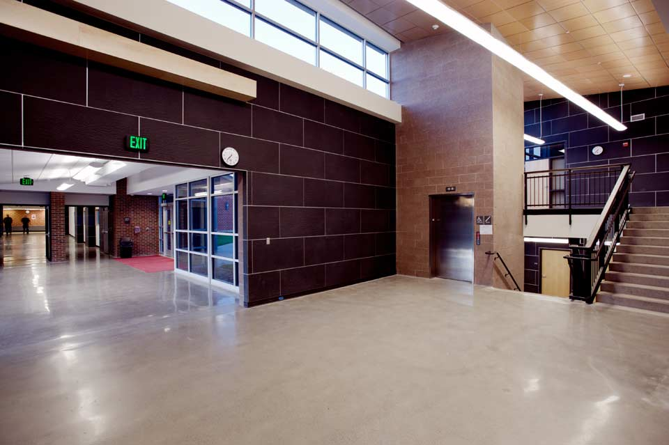 Bozeman High School- corridor to library