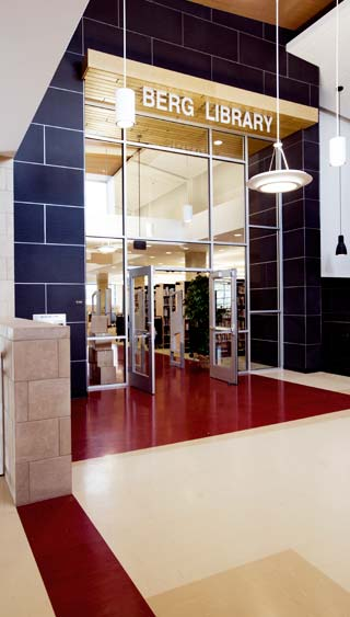 Bozeman High School- Berg library door