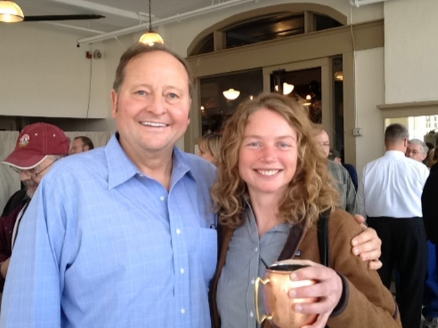 Montana Governor Brian Schweitzer and Comma-Q Project Architect Laura Landon